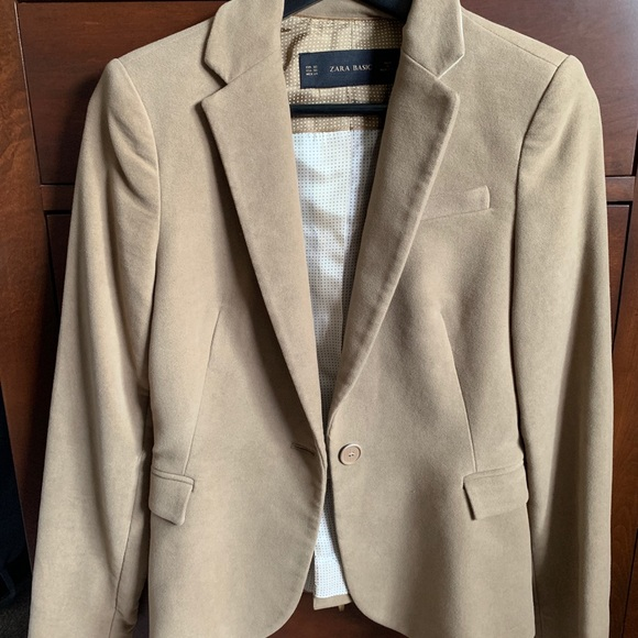 Zara Jackets & Blazers - Zara Basic Blazer With Elbow Patches